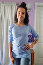 Load image into Gallery viewer, Raven Ruched Side Top in Baby Blue (S-XL)