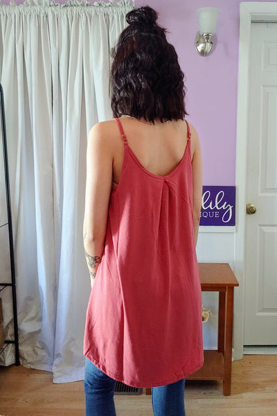 Rose Pleated Tank (S-XL)