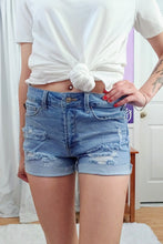 Load image into Gallery viewer, Marcy Distressed Med Jean Shorts (S-3X)