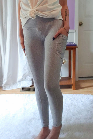Cotton Mix Leggings in Heather (S-XL)
