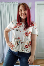 Load image into Gallery viewer, Flirty Floral Cold Shoulder Top