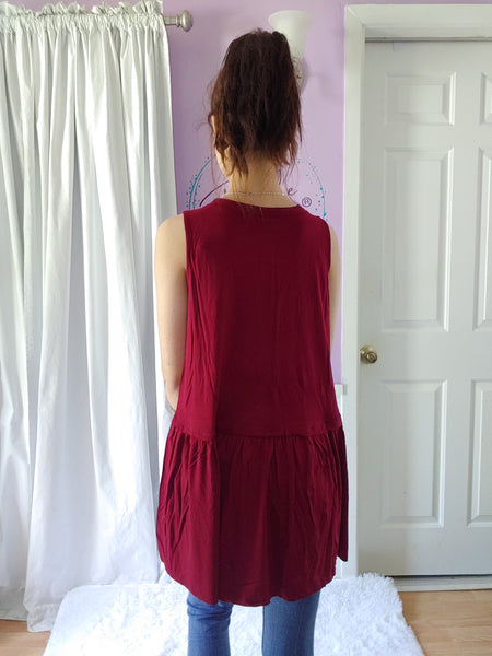 Beautiful Burgundy Tank (S-XL)