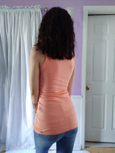Load image into Gallery viewer, Lace Lined Neck Tank in Coral
