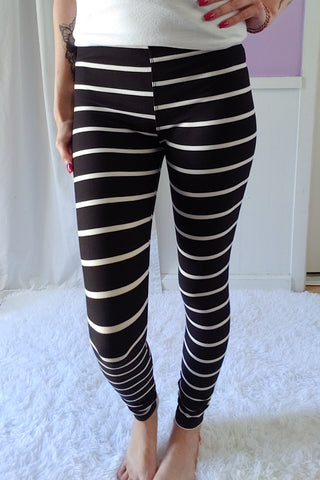 Simple Stripes Yoga Leggings (Super Soft) S-XL