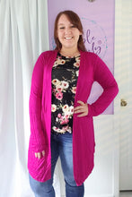 Load image into Gallery viewer, Tess Cardigan in Fuchsia (S-XL)