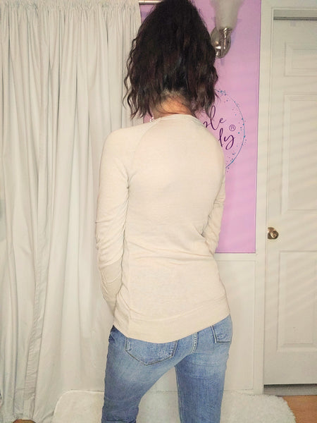 Basic Long Sleeve Top in White