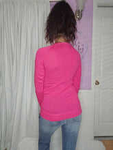 Load image into Gallery viewer, Basic Long Sleeve Top in Hot Pink