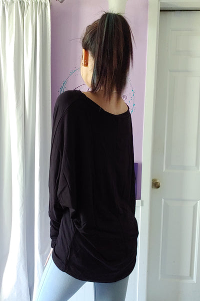 Celeste X Wrist Dolman in Black (S-XL)