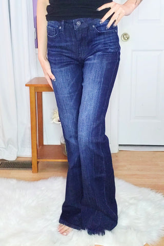 Lisa Bootcut Dark Whiskered Kan Can Jeans (3-15)