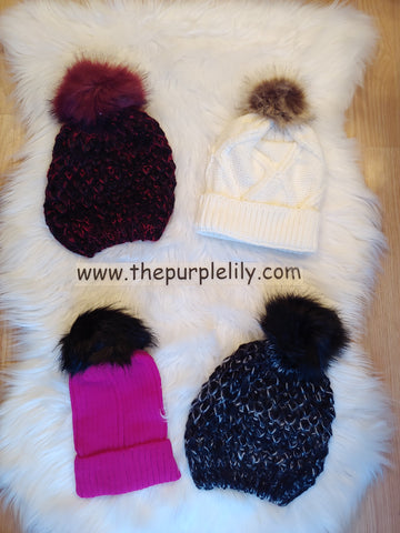 Pom Pom Hat (4 colors)