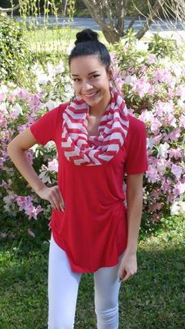 Chevron Infinity Scarf (4 Colors)