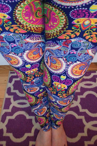 Paisley Party Leggings (Super Soft) Mommy & Me