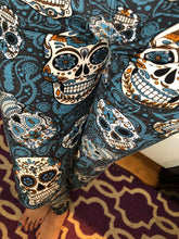 Load image into Gallery viewer, Blue Paisley Skulls Leggings (Super Soft)