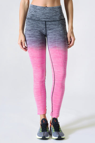 Grey To Purple Ombre Workout Leggings