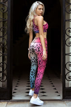 Load image into Gallery viewer, Plum Camo Workout Leggings