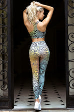 Load image into Gallery viewer, Pastel Rainbow Zebra Workout Leggings