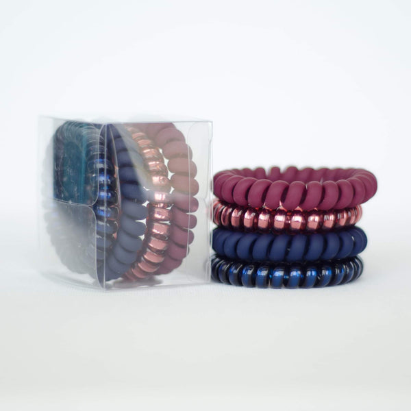 Coil Hair Ties (4 pack)