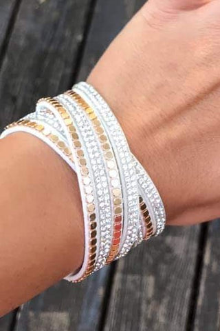 Twisted Stud Bracelet Ivory