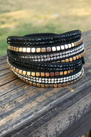 Twisted Stud Bracelet Black