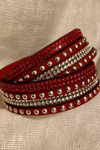 Twisted Stud Bracelet Red