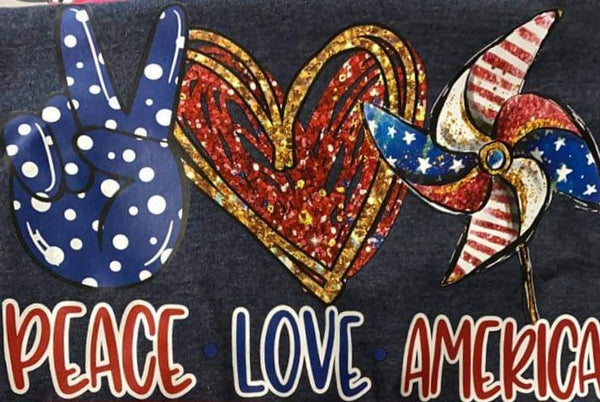 Peace Love America Tee (S-XL)