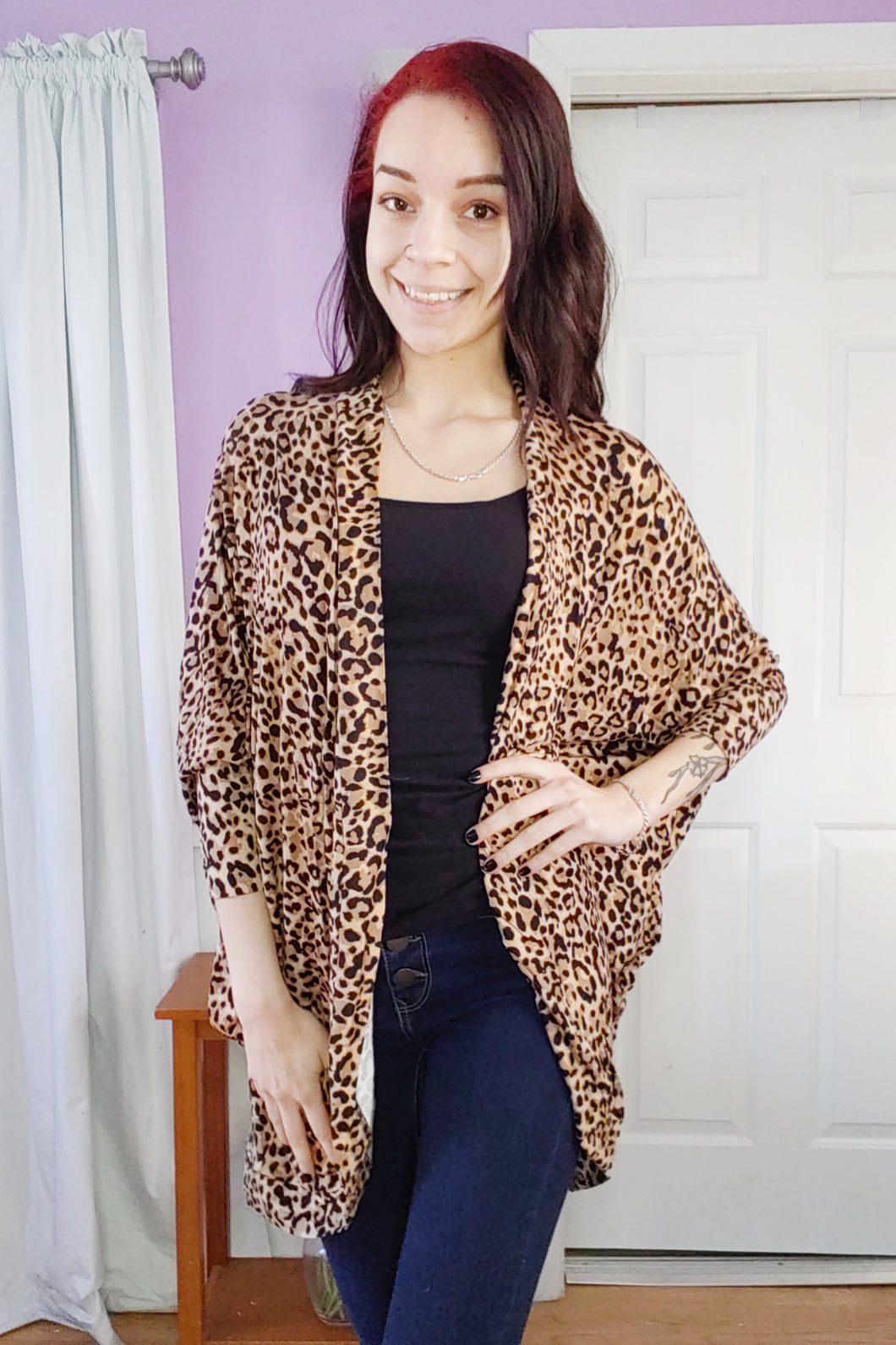 Leopard Cocoon Cardigan (S-XL)