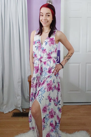 Destiny Flowy Cross Top Maxi Dress