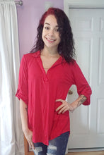 Load image into Gallery viewer, Solid Red Chic Top