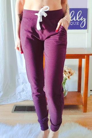 Just Right Joggers In Plum (S-XL)