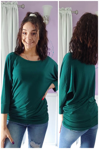 Dreamy Dolman in Deep Green (S-XL)