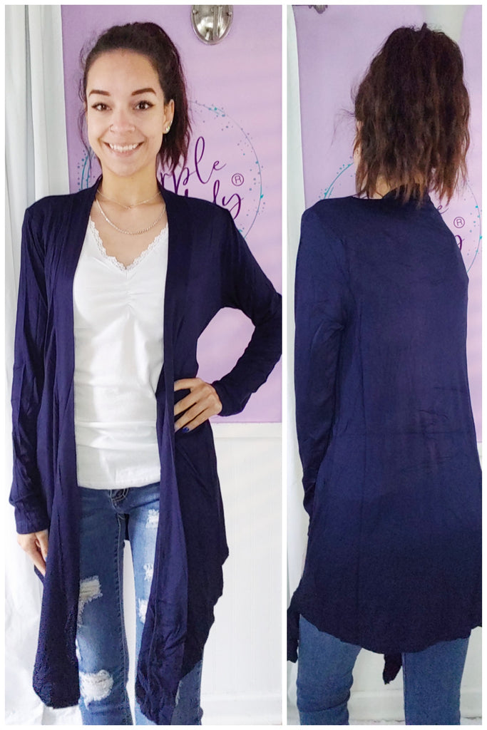 Tess Cardigan in Navy (S-XL)