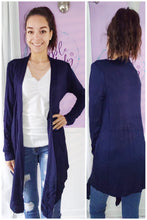 Load image into Gallery viewer, Tess Cardigan in Navy (S-XL)