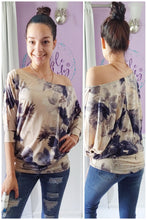 Load image into Gallery viewer, Navy Big Flower Dolman (S-XL)