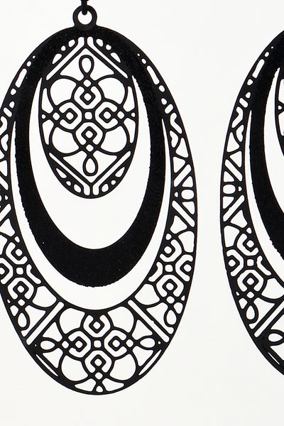 Oval Filigree Earrings (3 colors)