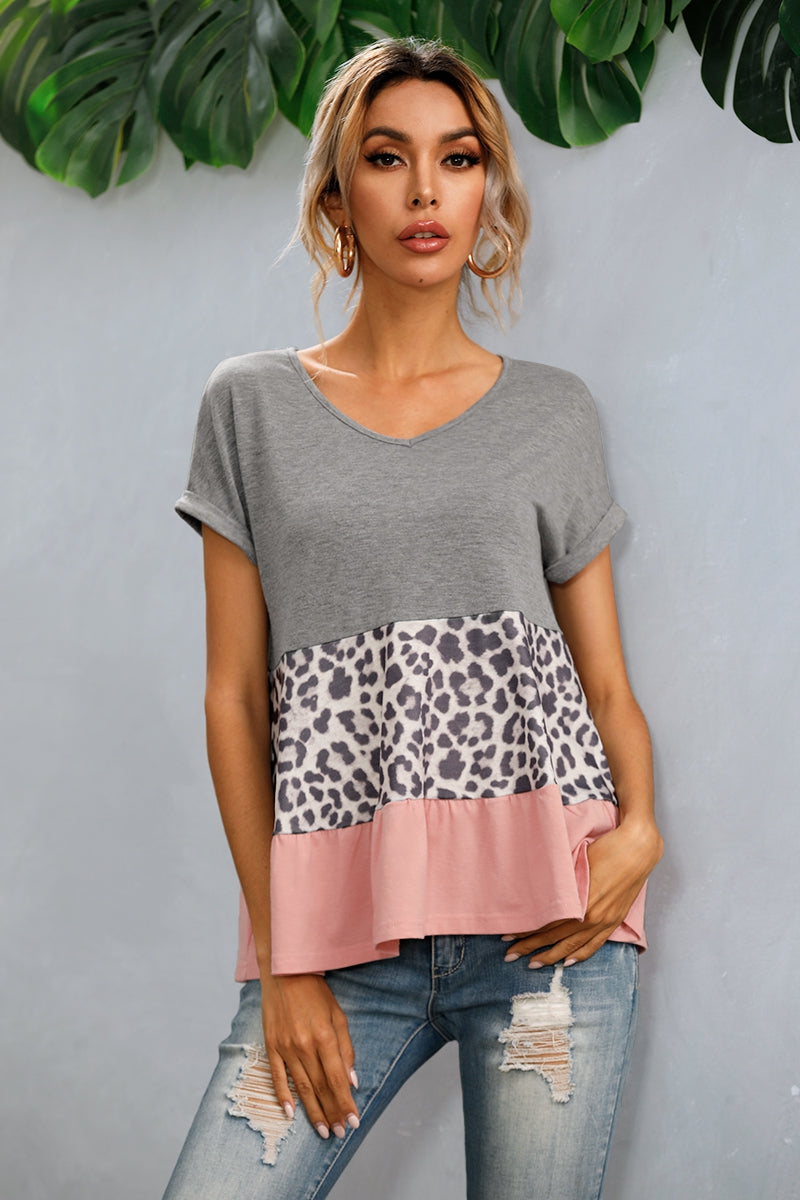 Coral Colorblock Top (S-XL)