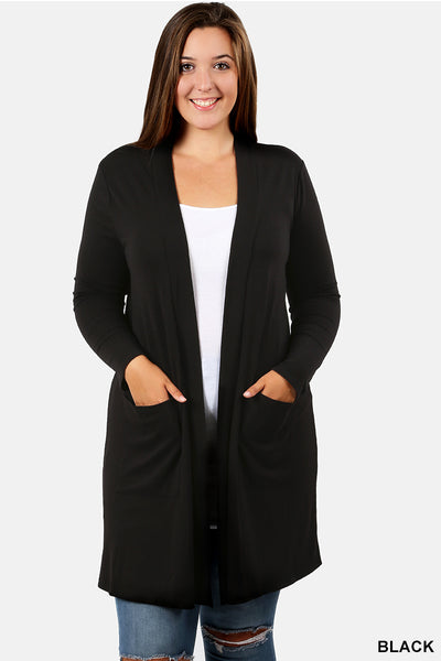 Gina Cardigan in Black (S-3X)