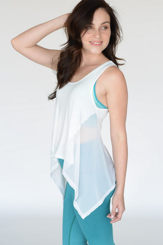 Airy Sports Tank In White