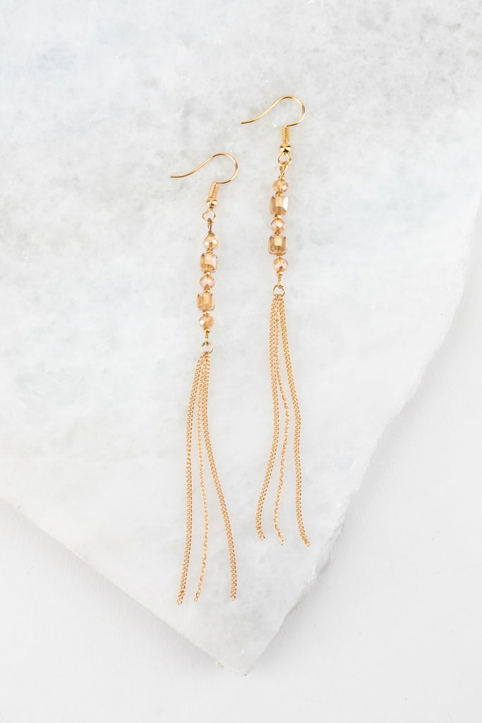 Champagne Chain Earrings