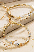 Load image into Gallery viewer, Gold Natural Stone Hoops