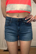 Load image into Gallery viewer, Miley Dark Wash Jean Shorts (S-2X)