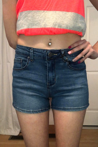 Miley Dark Wash Jean Shorts (S-2X)