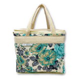 New Insulated Lunch Bag Koki Blue Floral