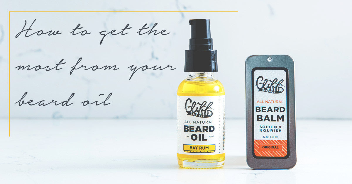 How to get the most from your beard oil- Cliff Original