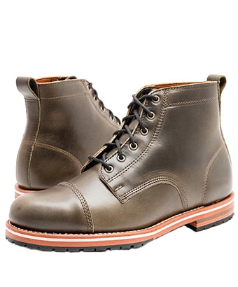 Helm Marion Olive Blucher Boot - men's winter boot guide