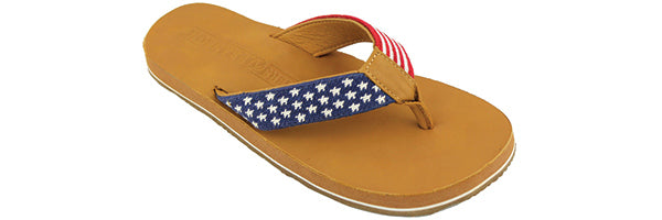 Smathers & Branson-Old Glory Needlepoint - budget friendly flip flops