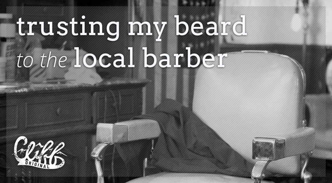 trusting beard to local barber - all natural beard care