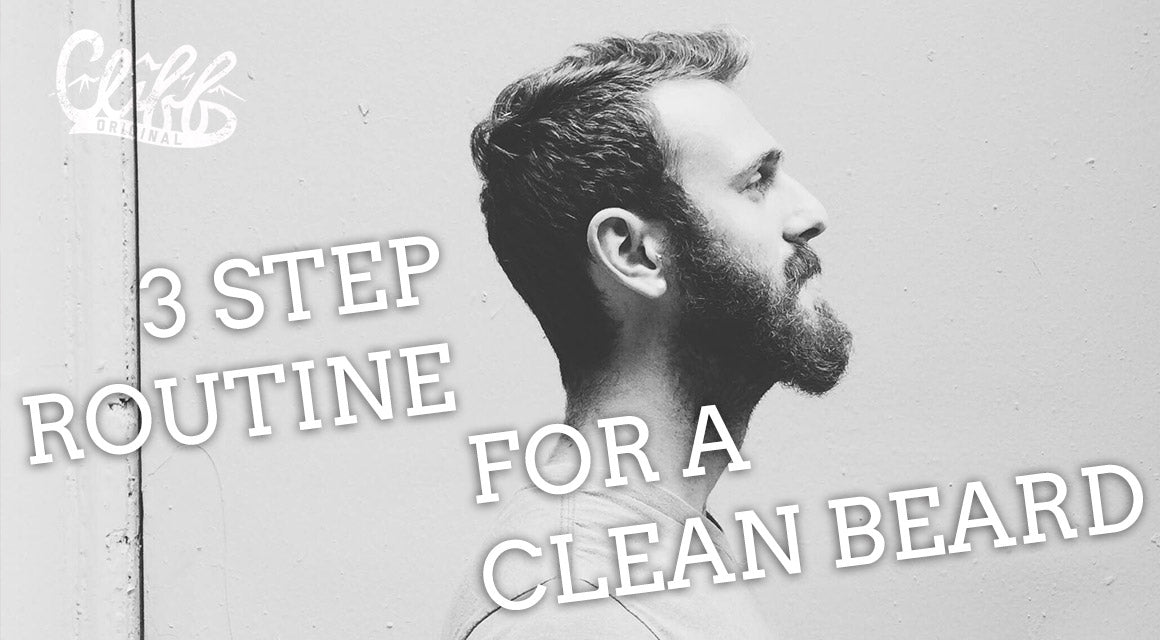 All natural 3 step beard care routine