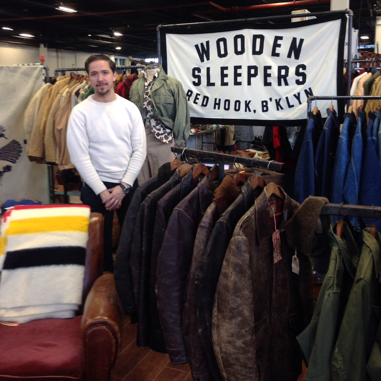 Wooden Sleepers at Inspiration NY - Brooklyn vintage men's style
