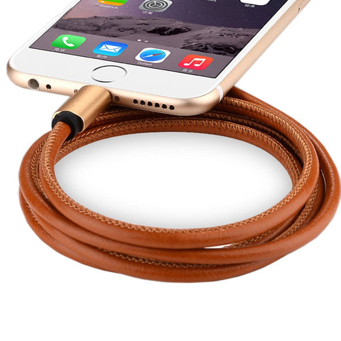 TechCollective Leather iPhone Sync|Charging Cable 1m