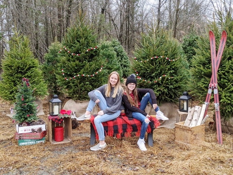 Outdoor Christmas Tree Shoot